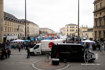 AfD gathers on Munich ODeonsplatz.