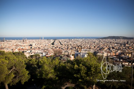 View from Park Güell over Barcelona.
