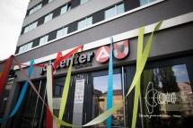 Activists decorate Jobcenter in Berlin Wedding.