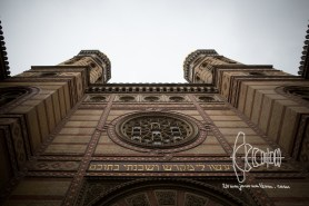 Moorish architecture style front of the Great Synagogue.