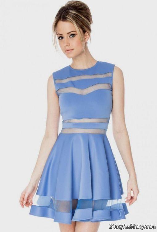 casual sky blue dress 2016-2017 » B2B Fashion