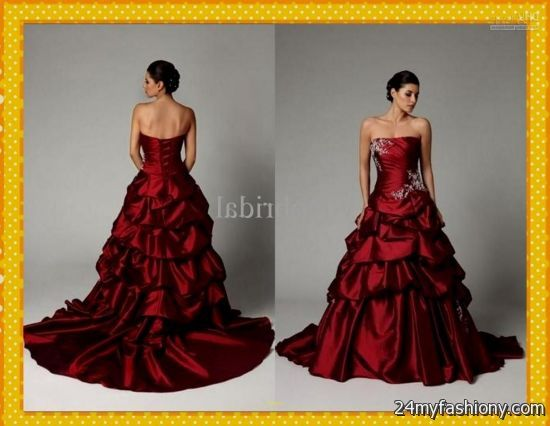 Dark Red Ball Gown 2016-2017
