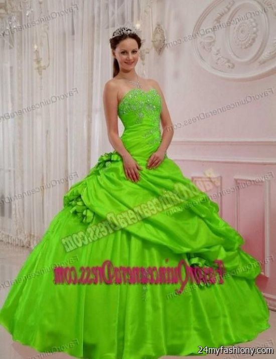 lime green and hot pink quinceanera dresses 2016-2017 » B2B Fashion