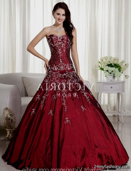 Maroon and Gold Prom Dress 2016-2017 » B2B Fashion