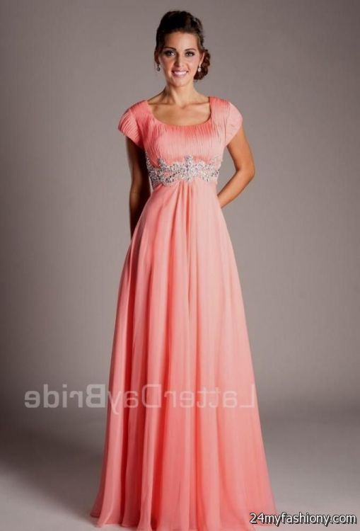 modest prom dresses lds coral 2016-2017 » B2B Fashion