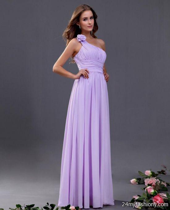 one shoulder lavender bridesmaid dresses 2016-2017 » B2B Fashion