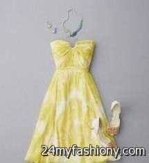 pale yellow summer dress 2016-2017 » B2B Fashion