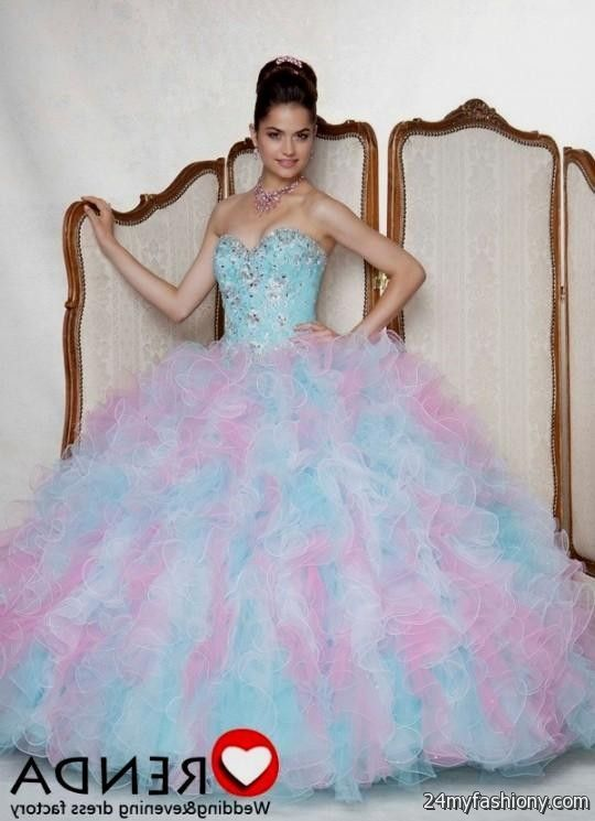 quinceanera dresses pink and blue 2016-2017 » B2B Fashion