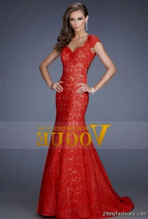 red lace ball gown 2016-2017 » B2B Fashion