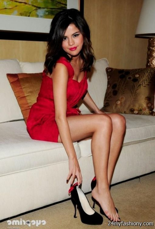 Selena Gomez Red Dress Photoshoot 2016 2017 B2B Fashion