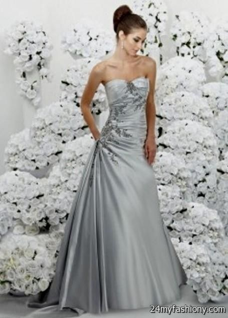 silver wedding dresses for older brides 2016-2017 » B2B Fashion