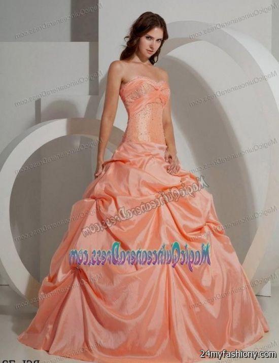 sweet 15 dresses dark peach 2016-2017 » B2B Fashion