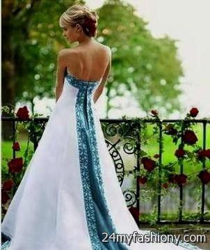 Turquoise And Black Wedding Dress 2016 2017 B2B Fashion