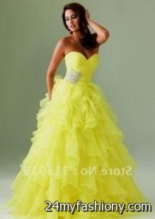 yellow puffy quinceanera dresses 2016-2017 » B2B Fashion