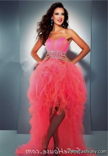 pink high low sweet 16 dresses 2016-2017 » B2B Fashion