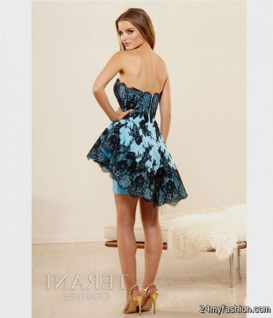 blue and black homecoming dresses short 2016-2017 » B2B Fashion