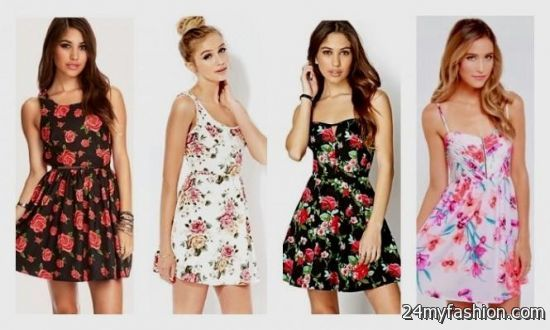 floral skater dress outfit 2016-2017 » B2B Fashion