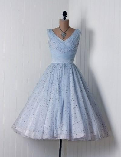 light blue vintage dress 2016-2017 » B2B Fashion