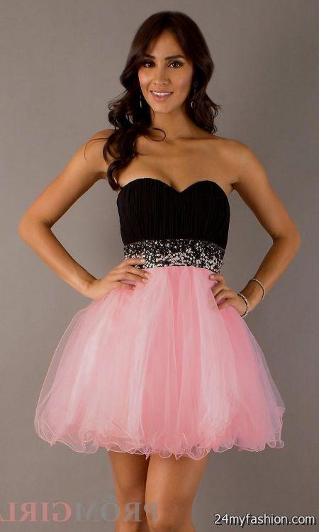 short pink and black prom dresses 2016-2017 » B2B Fashion