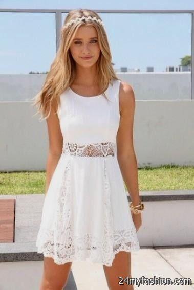 short white lace summer dress 2016-2017 » B2B Fashion
