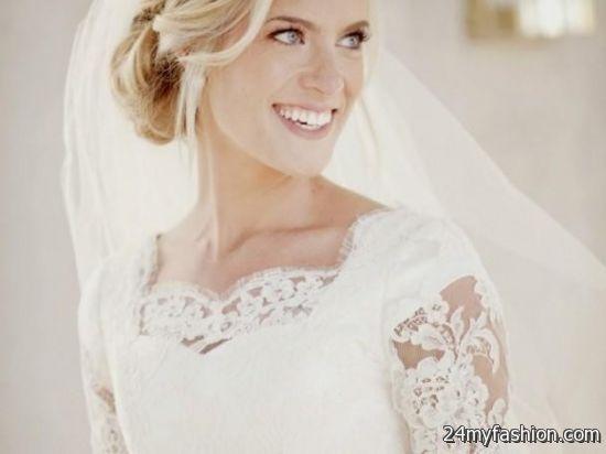 Modest Wedding Dress Lace Sleeves 2018-2019