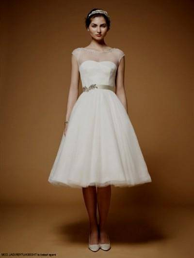 Civil White Wedding Dress Simple