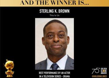Sterling K. Brown, Nicole Kidman, Elizabeth Moss win at the 75th Golden Globe Awards | See Full List of Winners