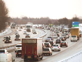 trafik venter lastbil kørsel