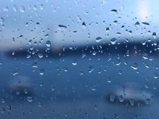 dråber regn trist