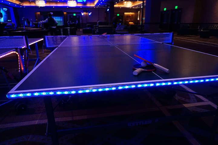 ping pong table lighted 24 seven