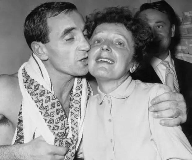 Шарль Азнавур и Эдит Пиаф