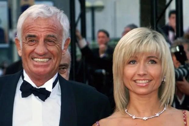Жан-Поль Бельмондо  с женой