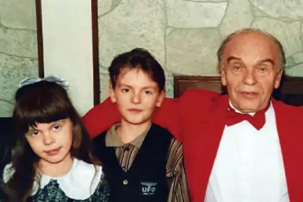 Владимир Шаинский с детьми