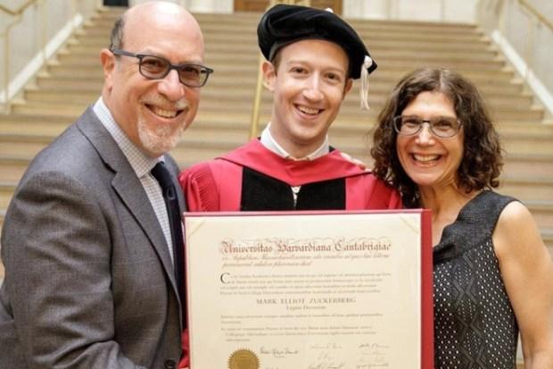 Марк Цукерберг с родителями