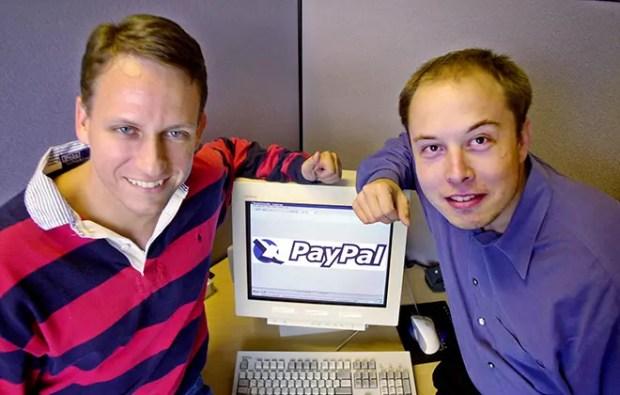 Питер Тиль и Илон Маск в компании «PayPal»