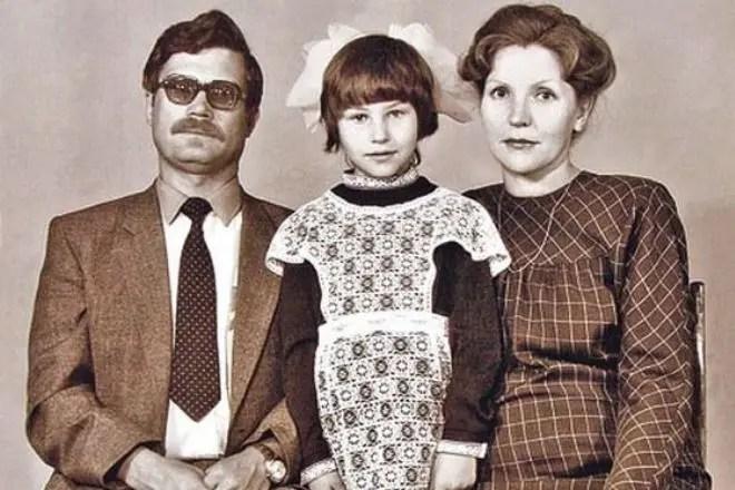 Светлана Камынина. В детстве с родителями