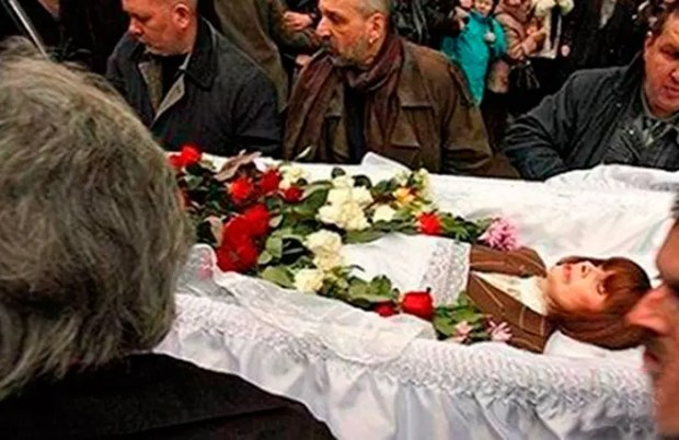 Похороны Любови Полищук