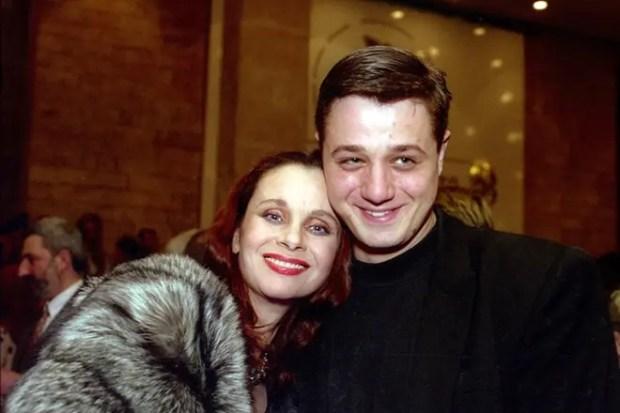Любовь Полищук с сыном Алексеем Макаровым