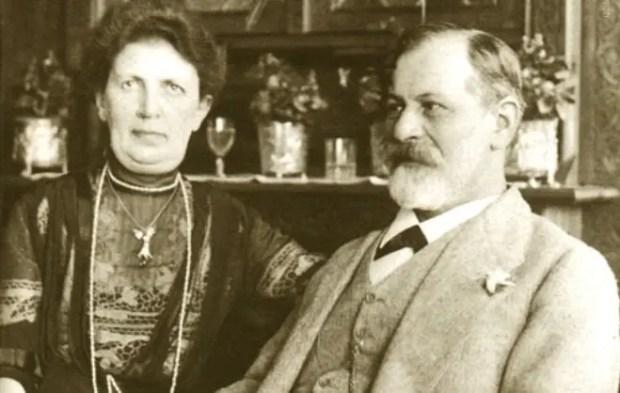 Зигмунд Фрейд и Марта Бейрнайс