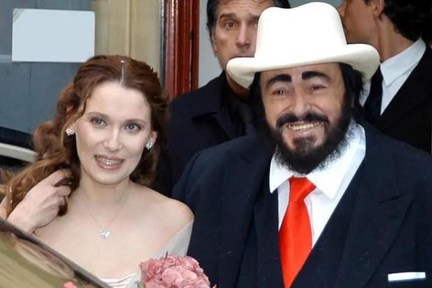 Лучано Паваротти и Николетта Монтовани