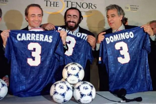 Три тенора: Хосе Каррерас, Лучано Паваротти и Пласидо Доминго