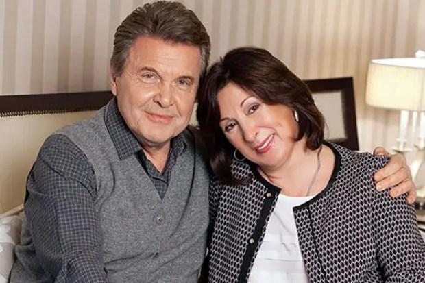 Лев Лещенко с женой