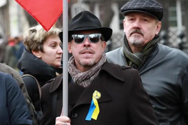 Андрей Макаревич на митинге в поддержку Украины