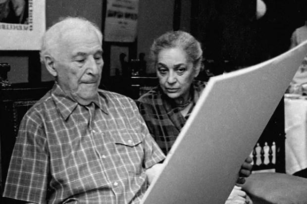 Марк Шагал с женой Валентиной Бродской
