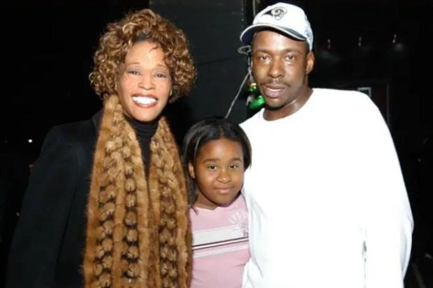 Уитни Хьюстон и Бобби Браун с дочерью
