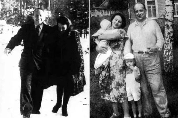 Евгений Шварц с дочерью и внуками