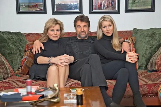 Леонид Ярмольник с женой Оксаной Афанасьевой и дочерью Александрой