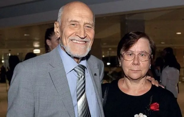 Николай Дроздов с женой