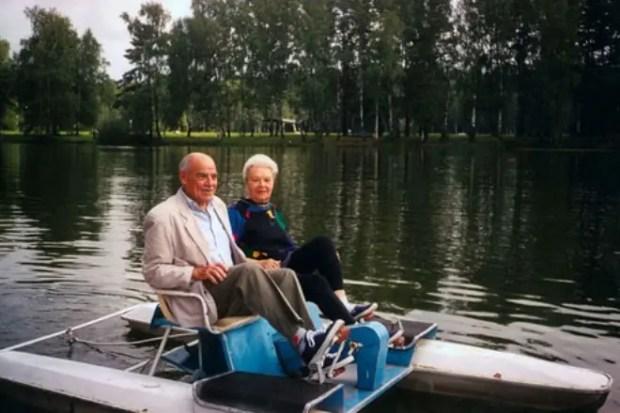 Михаил Глузский с женой
