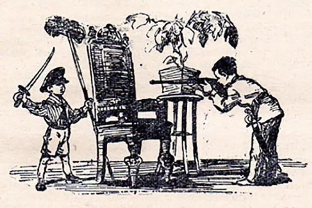 Иллюстрация к книге Льва Кассиля «Кондуит и Швамбрания»